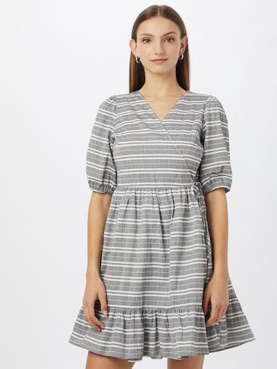 Y.A.S Kleid 'RAFFIA' in grau / weiß, Modelansicht