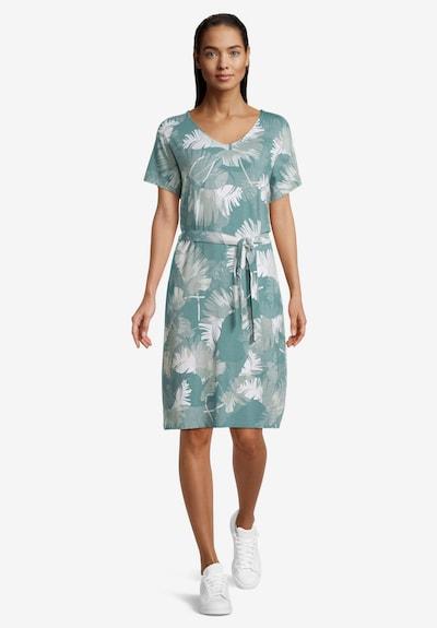 Betty & Co Jerseykleid mit V-Ausschnitt in grün / weiß, Modelansicht