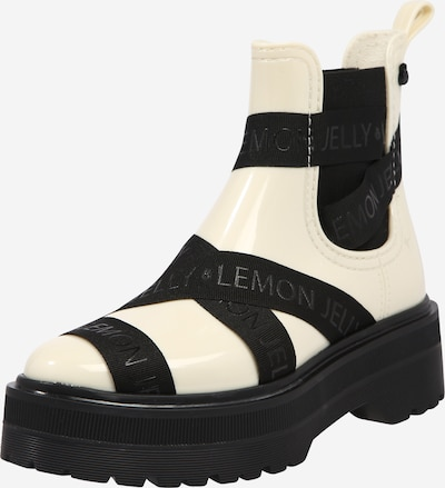LEMON JELLY Rubber boot 'FRANCESCA' in Cream / Black, Item view