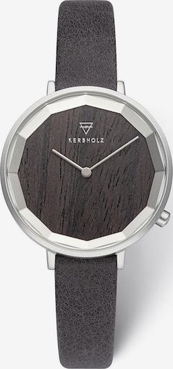 Kerbholz Analoguhr in schwarz / silber, Produktansicht