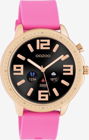 OOZOO Uhr in gold / himbeer / schwarz, Produktansicht