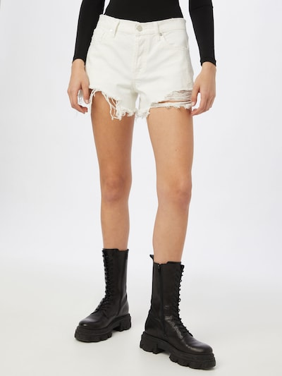 KENDALL + KYLIE Damen - Jeans 'K&K W MINI SHORTS DESTROYED DENIM' in white denim, Modelansicht