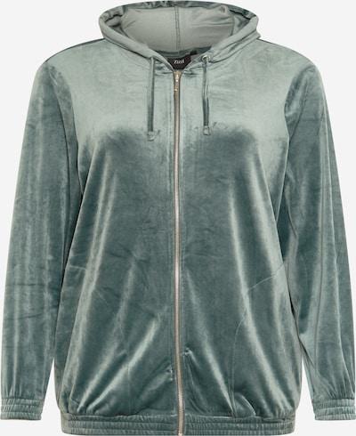 Zizzi Sweatvest 'HELENA' in de kleur Pastelgroen, Productweergave