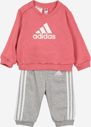 ADIDAS PERFORMANCE Tracksuit in grey mottled / pink / white, Item view