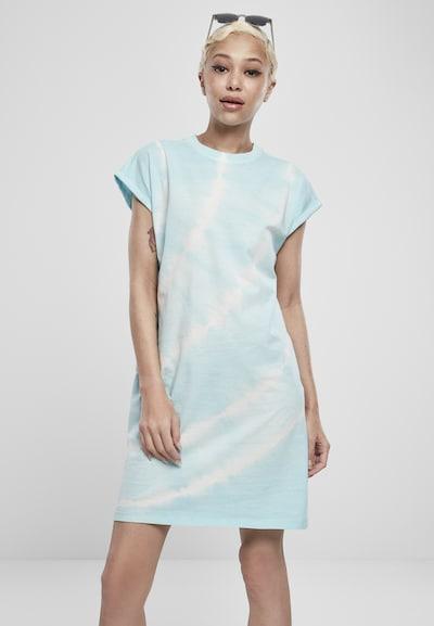 Urban Classics Kleid 'Tie Dye' in blau / weiß, Modelansicht