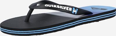 QUIKSILVER Сандали с разделител за пръстите 'MOLOKAI' в черно / бяло, Преглед на продукта