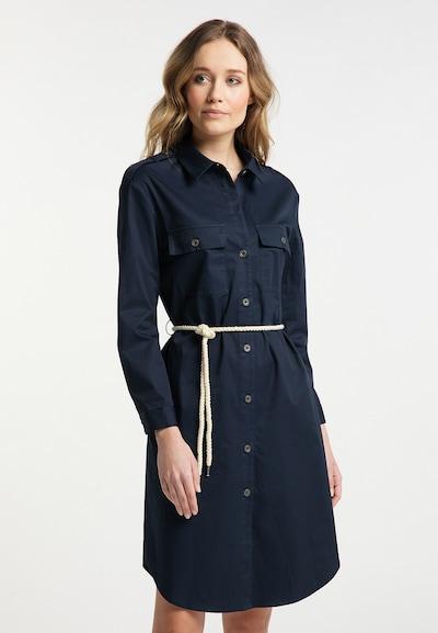 DreiMaster Vintage Blusenkleid in marine / dunkelblau, Modelansicht