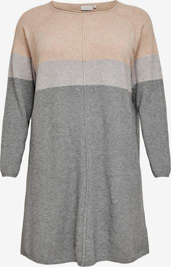 ONLY Carmakoma Kleid 'Laura' in grau / graumeliert / rosé, Produktansicht