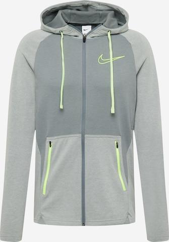 Bluză cu fermoar sport de la NIKE pe gri