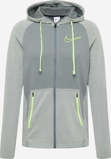 Bluză cu fermoar sport NIKE pe gri / gri închis, Vizualizare produs