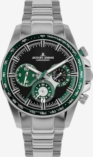 Jacques Lemans Uhr in grün / silber, Produktansicht