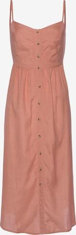 LASCANA Kleid - oranžová
