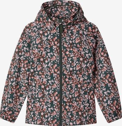 NAME IT Jacke in dunkelgrün / rosé, Produktansicht