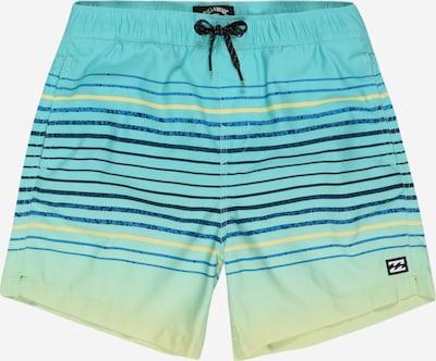 BILLABONG Maillot de bain de sport en bleu marine / bleu nuit / jaune / jade / noir, Vue avec produit