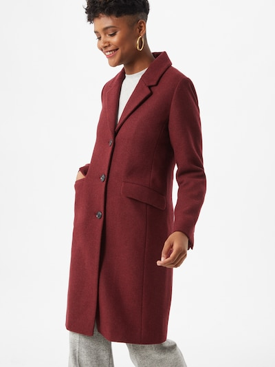 Rudeninis-žieminis paltas 'Pamela' iš modström , spalva - tamsiai raudona, Modelio vaizdas