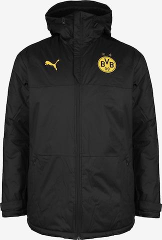 Veste outdoor 'Borussia Dortmund Training' PUMA en noir
