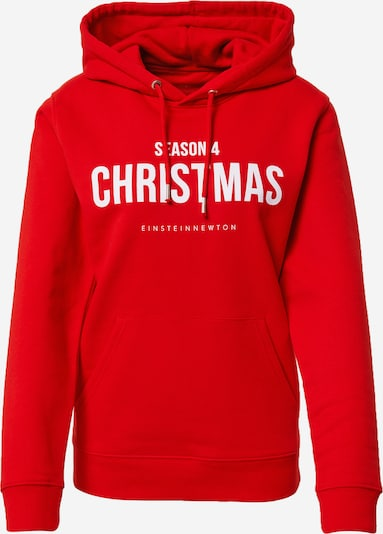 EINSTEIN & NEWTON Sweat-shirt 'Christmas' en rouge / blanc, Vue avec produit