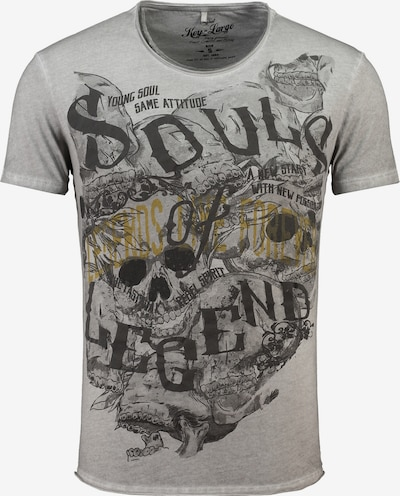 Key Largo T-Shirt 'MT SOUL LEGENDS' in silbergrau, Produktansicht