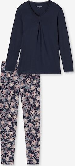 SCHIESSER Schlafanzug ' Feminine Floral Comfort Fit ' in dunkelblau, Produktansicht