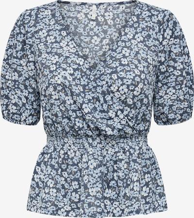 ONLY Bluse 'Pella' in taubenblau / hellblau / weiß, Produktansicht