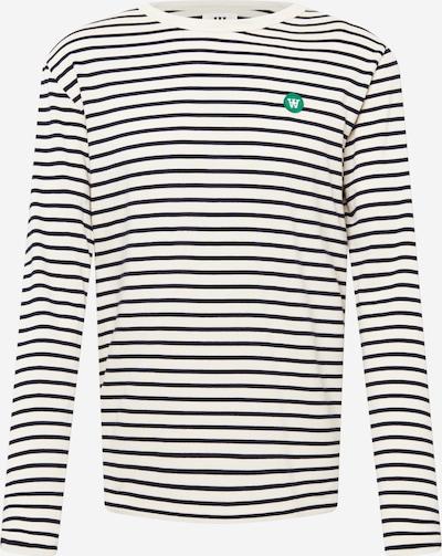 WOOD WOOD Tričko 'Mel' - námornícka modrá / biela, Produkt