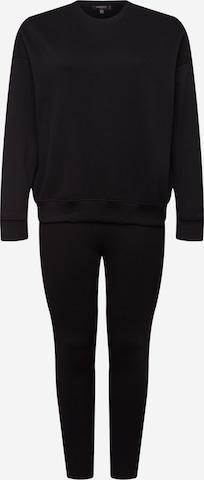 Missguided Plus Облекло за бягане в черно