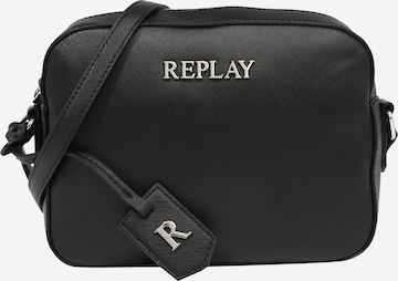 REPLAY Чанта за през рамо тип преметка 'Borsa' в черно