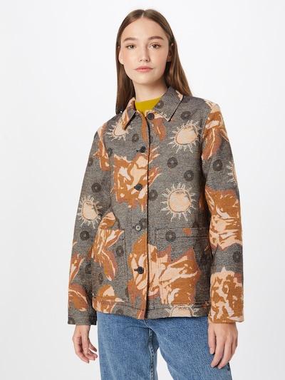 WOOD WOOD Blazer 'Fabienne' in creme / navy / karamell / dunkelgrau, Modelansicht