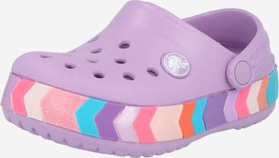Crocs Chaussures ouvertes en violet clair / mélange de couleurs, Vue avec produit