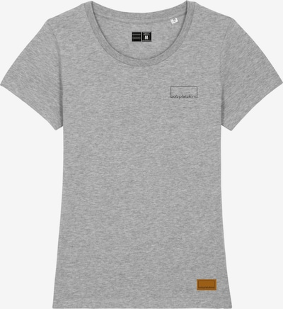 Bolzplatzkind T-Shirt in braun / graumeliert / schwarz, Produktansicht
