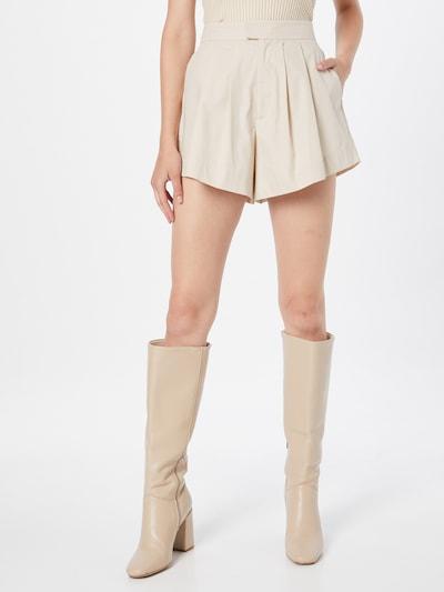 Gina Tricot Панталон с набор 'Amber' в бежово: Изглед отпред