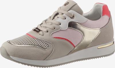 MEXX Sneaker in taupe / hellgrau / hellpink / melone, Produktansicht