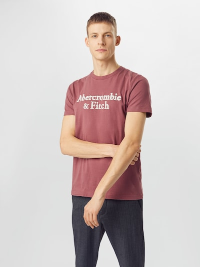 Abercrombie & Fitch Shirt in navy / rubinrot / hellrot / weiß: Frontalansicht