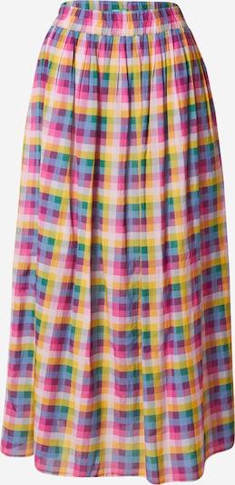 UNITED COLORS OF BENETTON Sukňa - modrosivá / žltá / smaragdová / svetloružová / tmavoružová, Produkt