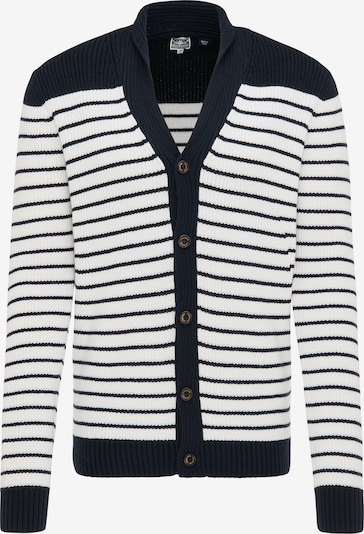 DreiMaster Maritim Knit cardigan in marine / white, Item view