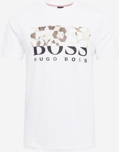 BOSS Casual Majica u smeđa / crna / prljavo bijela, Pregled proizvoda