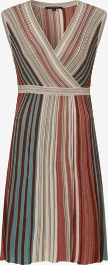 COMMA Kleid in beige / hellblau / braun / rostrot, Produktansicht