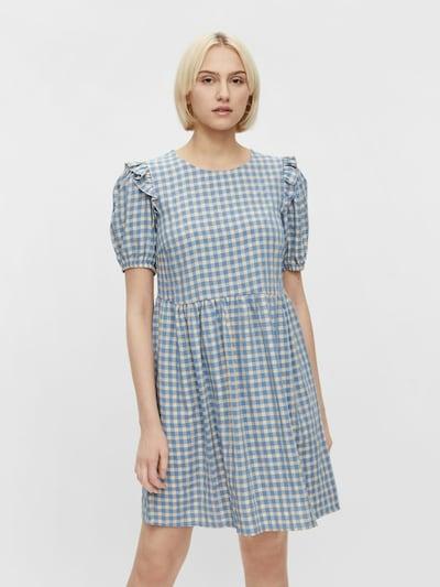 PIECES Šaty 'Vilja' - béžová / světlemodrá, Model/ka