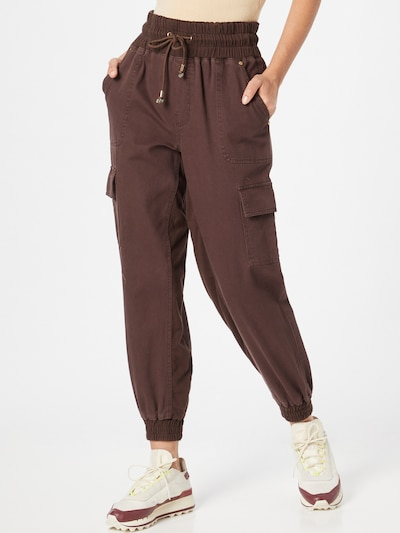 River Island Cargo Jeans in Chestnut brown, View model