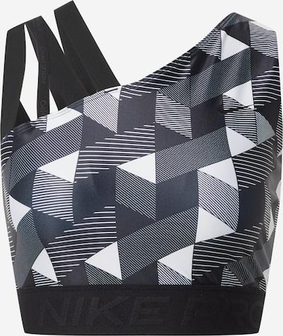NIKE Sporttop in de kleur Zwart / Wit, Productweergave