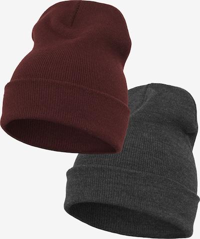 Flexfit Mütze in dunkelgrau / bordeaux, Produktansicht