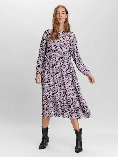 VERO MODA Košeľové šaty - svetlomodrá / zelená / fialová / čierna, Model/-ka