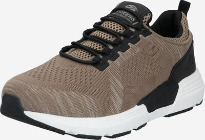 Dockers by Gerli Sneakers laag in de kleur Taupe / Zwart, Productweergave