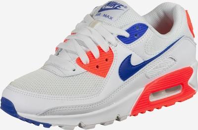 NIKE Sportske cipele 'Air Max 90' u plava / narančasto crvena / bijela, Pregled proizvoda