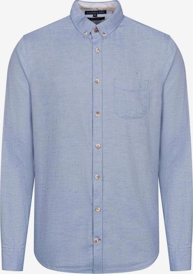 COLOURS & SONS Langarmhemd 'NEPS' in blau, Produktansicht