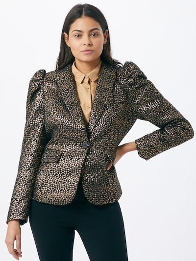 SELECTED FEMME Blazer 'GEE' in gold / schwarz, Modelansicht