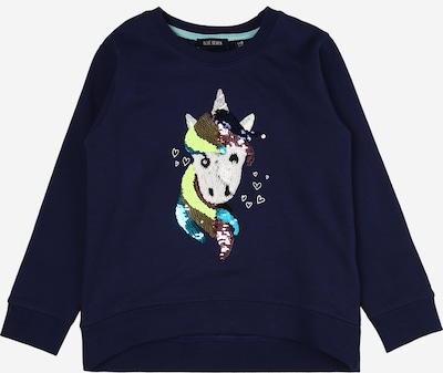 BLUE SEVEN Sweatshirt in marine / braun / gelb / weiß, Produktansicht