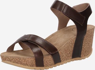 Sandale Ca'Shott pe maro închis, Vizualizare produs