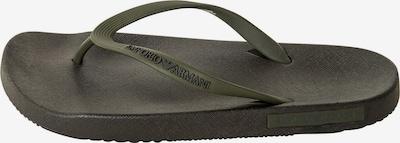 Emporio Armani Zehentrenner in dunkelgrün, Produktansicht