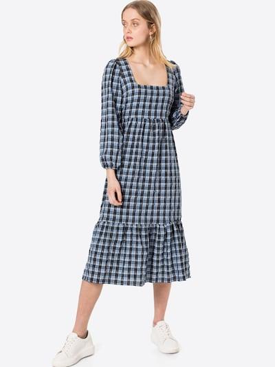 NEW LOOK Kleid in taubenblau / hellblau / hellgrau / schwarz, Modelansicht
